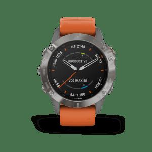 שעון דופק Garmin fenix 6 sapphire titanium