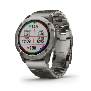 שעון דופק garmin fenix 6x pro solar titanium