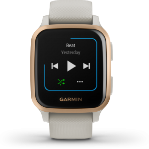 שעון דופק Venu Sq GPS Music – Light Sand/Rose Gold