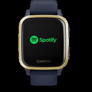 שעון דופק Venu Sq GPS Music – Navy/Light Gold