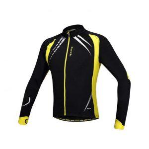 חולצת רכיבה ארוכה צהובה SANTIC