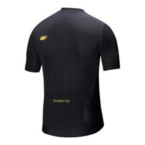 חולצת רכיבה קצרה שחורה SANTIC