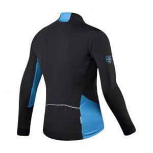 חולצת רכיבה ארוכה כחולה עם חוסם רוח SANTIC