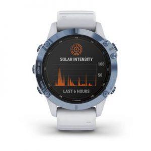 שעון דופק fēnix 6 Pro Solar – Mineral Blue