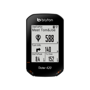 Bryton Rider 420 E מחשבון רכיבה לאופניים