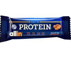 חטיף חלבון וסיבים בטעם בוטנים קרמל מלוח 100 גרם  ALLIN